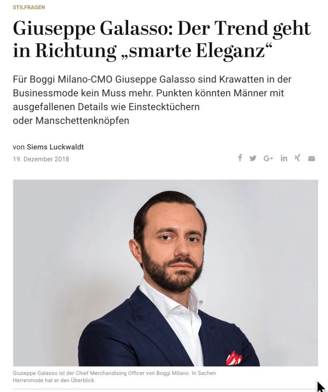Was Mann trägt: Giuseppe Galasso, Boggi Milano (für Capital.de)