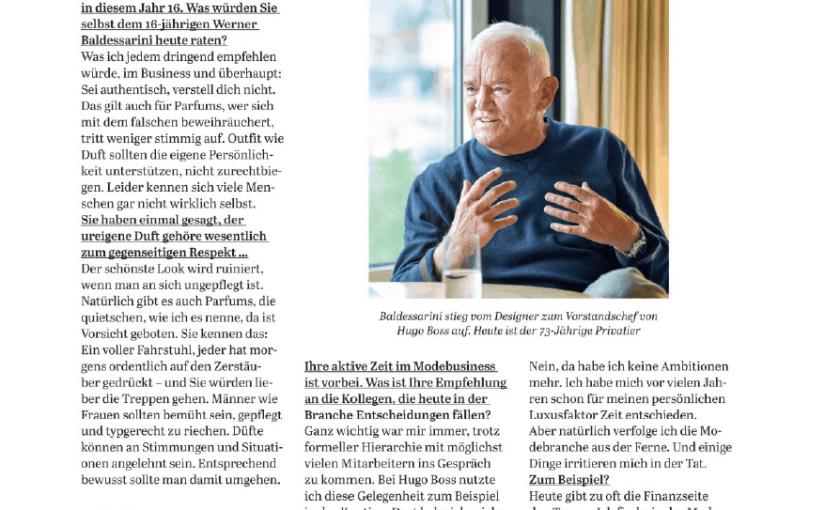 Interview: Werner Baldessarini (für Capital)