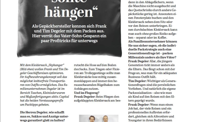Interview: Tim & Frank Degeler (für Capital)