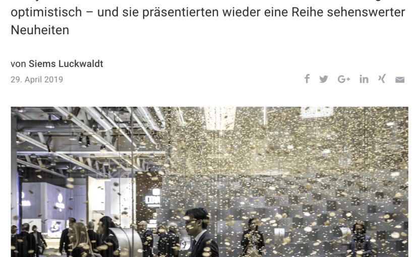 Uhren-Neuheiten 2019 (für Capital.de)