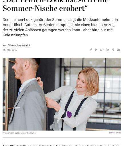 Was Mann trägt: Anna Ullrich-Cattien, The Bloke (für Capital.de)