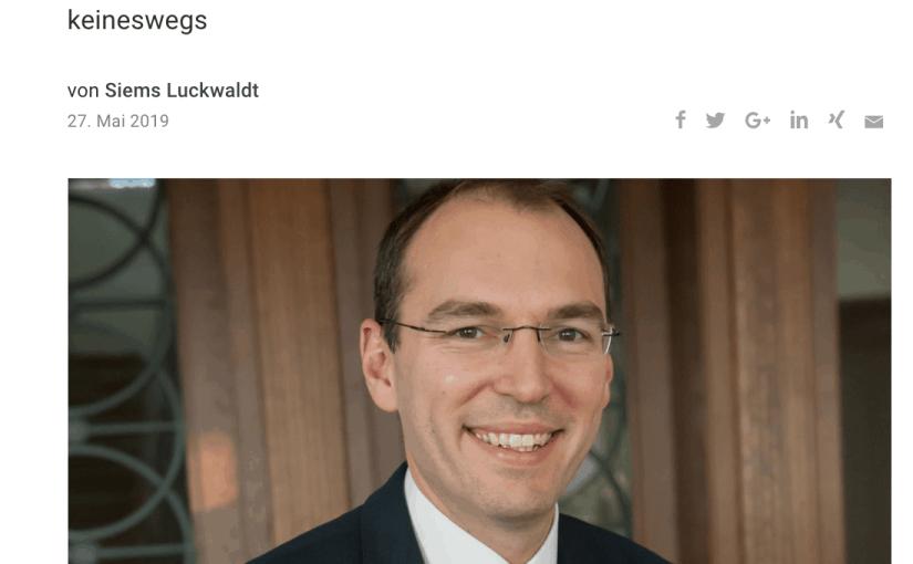 Interview: Oliver Goessler, Montblanc (für Capital.de)