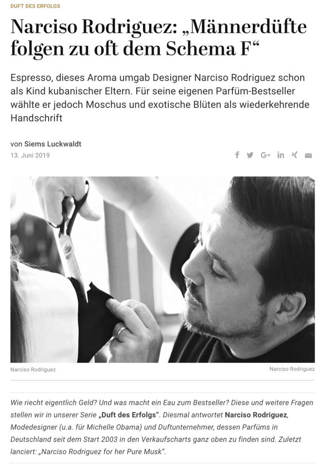 Duft des Erfolgs: Narciso Rodriguez (für Capital.de)