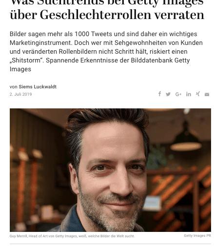 Interview: Guy Merrill, Getty Images (für Capital.de)