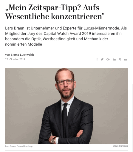 Capital Watch Award 2019: Meet the Jury – Lars Braun (für Capital.de)