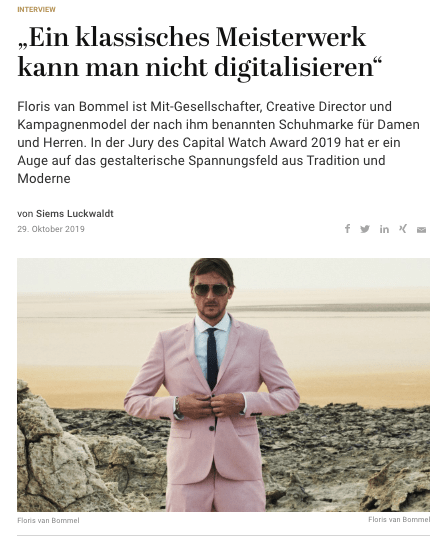 Capital Watch Award 2019: Meet the Jury – Floris van Bommel (für Capital.de)