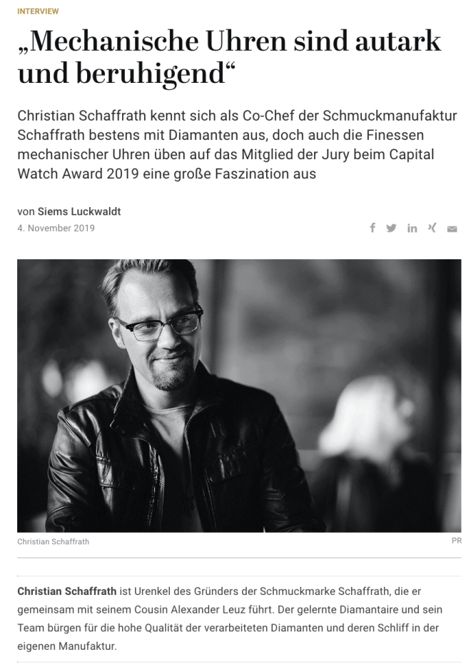 Capital Watch Award 2019: Meet the Jury – Christian Schaffrath (für Capital.de)