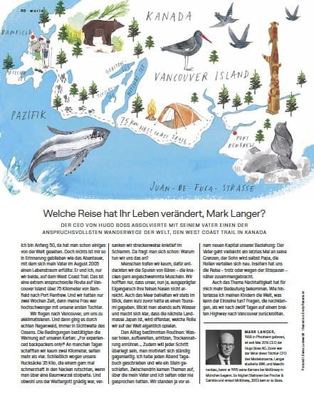 Reise meines Lebens: Mark Langer, Hugo Boss (für Lufthansa Exclusive)