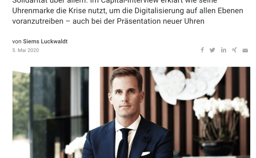 Interview: Christoph Grainger-Herr, IWC (für Capital.de)