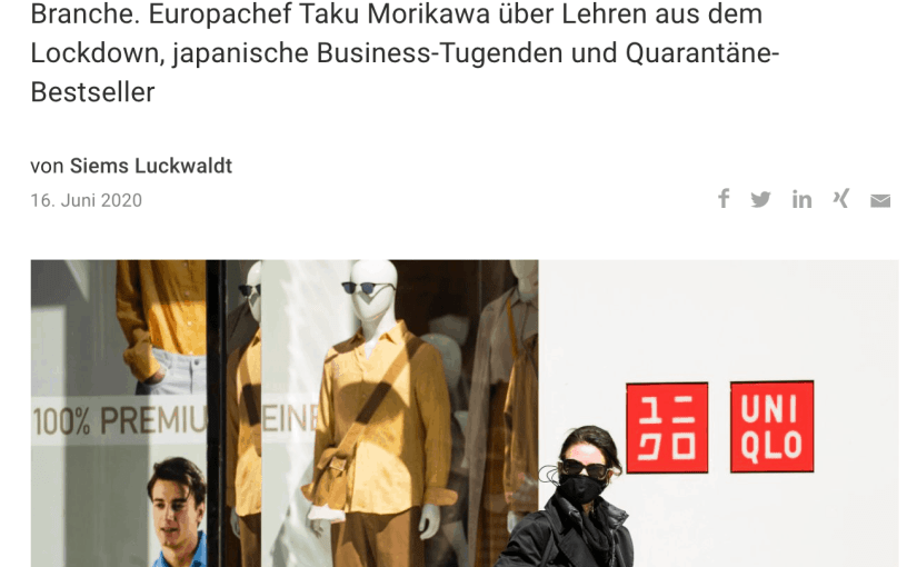 Interview: Taku Morikawa, Uniqlo (für Capital.de)