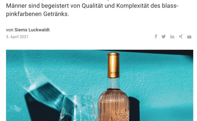 Warum Roséwein auch Männersache ist (für Capital.de)