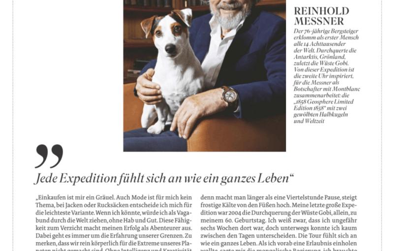 Mein Modemoment: Reinhold Messner (für Stern)