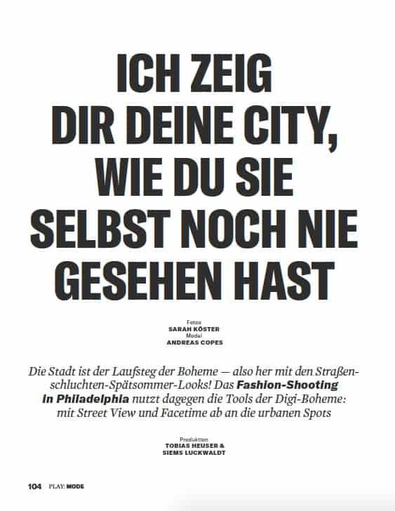 Modestrecke: Meine Stadt (für Business Punk)