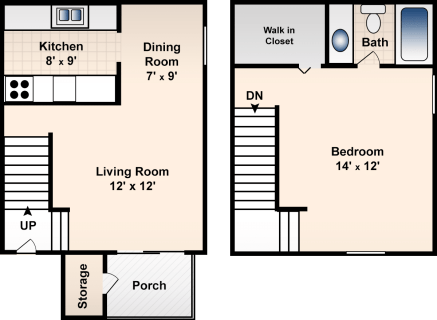 1 Bed / 1 Bath / 722 sq ft / Deposit: $300 / Rent: $625