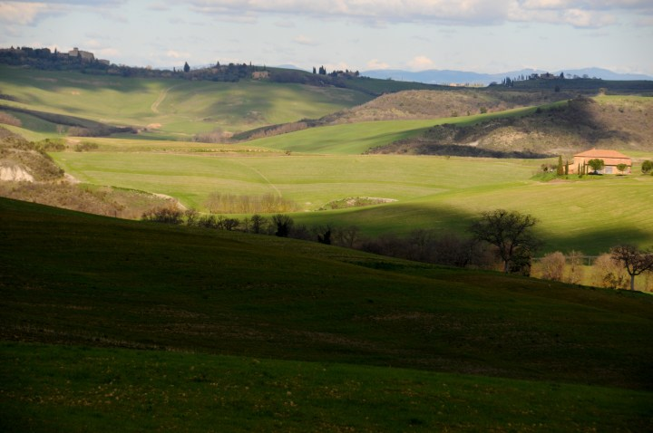 Val d'Orcia en route from Siena House to Montalcino wine event Benvenuto Brunello