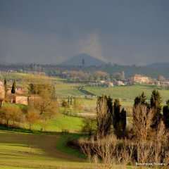 Image of the Val di chiana taken from Siena House -Montepulciano and Monte Amiata