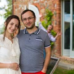 Image showing photgrapher travel writer blogger web designer couple Dumitru and Alina Brinzan on their honeymoon at Siena House boutique hotel in Tuscany