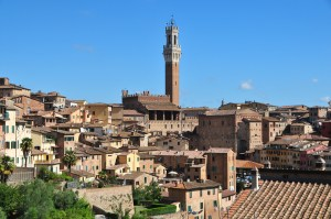 Image showing the medieval city of siena from close by