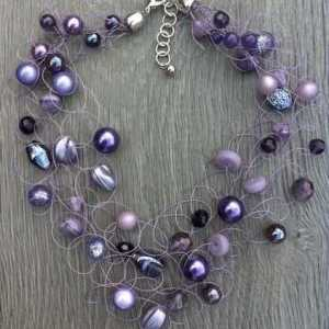Ketting Kaylee lila paars