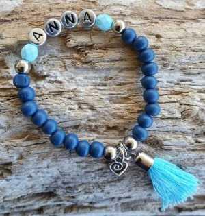 Kinderarmband Amber blauw