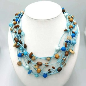 Ketting Gabrielle turquoise nature