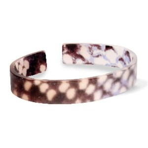 Trendy armband resin loose fit snake matt Brown-grey (11mm)