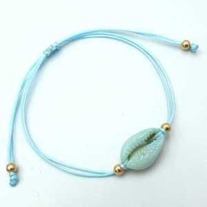 Hippe armband Kauri licht aqua