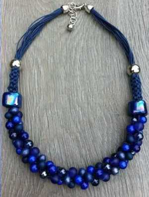 Ketting Nora kobalt blauw