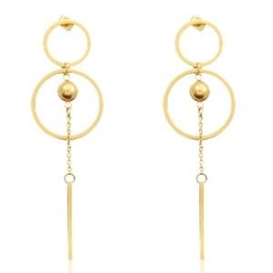 Roestvrij stalen (RVS) Stainless steel oorbellen goud