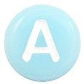 letterkralen aqua blue white
