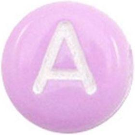 Letterkralen Purple white