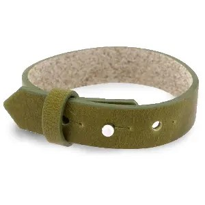 Verstelbare heren armband 15mm Olive green