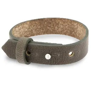 Verstelbare heren armband 15mm Warm stone taupe