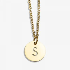 Stainless Steel Ketting Letter S (45 cm)