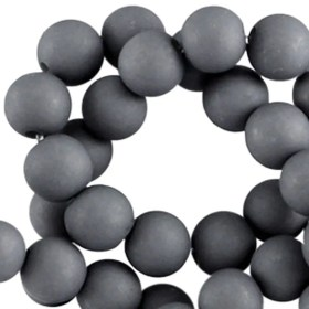 Acryl kralen mat Cool grey