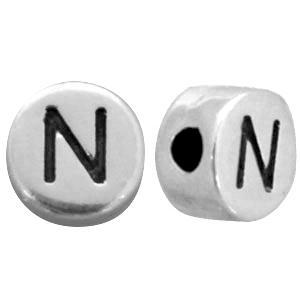 metalen zilveren letter kraal