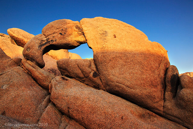 The Lobster Claw Arch in Joshua Tree National Park.  It's a boulder hop to get to this one.