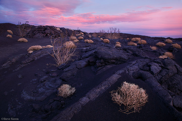 The desert resembling a Hawaiin Island in the proposed Mojave Trails National Monument