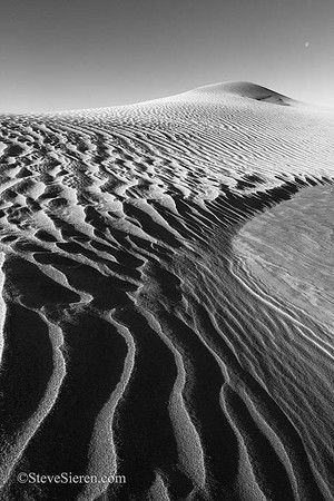 Frost covered dunes in the Mojave Desert