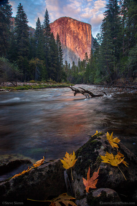 El Capitan and the Merced in Fall, Yosemite National Park