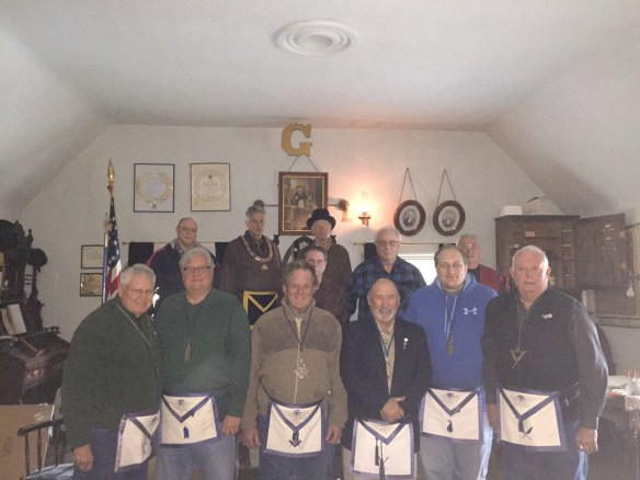 Sierra City Harmony #164 Masonic Lodge elects new Officers for the Masonic year of 2016. Back Row: from left to right Mike Edwards-Master of Ceremonies, John Trauner- Initiating Officer, Michael Koettel-Senior Warden, Jerry Brzyscz-Master of the Lodge, Tom Krummell-Chaplin, Sam White-Junior Deacon Front Row: from left to right Past Grand Master John Cooper-Treasurer, William Miklos-Junior Warden, Frank Edwards-Senior Deacon, John Chilcote-Marshal, Karl Krummell-Junior Steward, Michael Galan-Secretary The Lodge, one of the few Moonlight Lodges, meets the Thursday after the full moon, so our meeting dates for 2016 will be Jan. 28, Feb. 25, March 24, April 28, May 26, June 23, July 21, Aug. 25, Sept. 22, Oct. 20, Nov. 17, Dec. 15, meetings start at 1:00pm at the Masonic Temple in Sierra City.