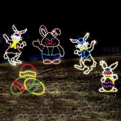 easter bunny lights