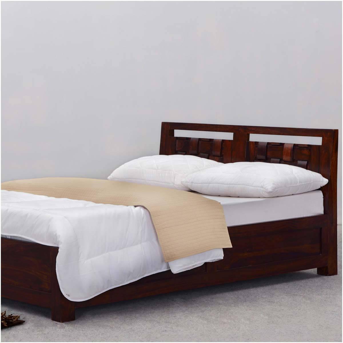 Modern Rustic Minnesota Solid Wood Platform Bed W Headboard