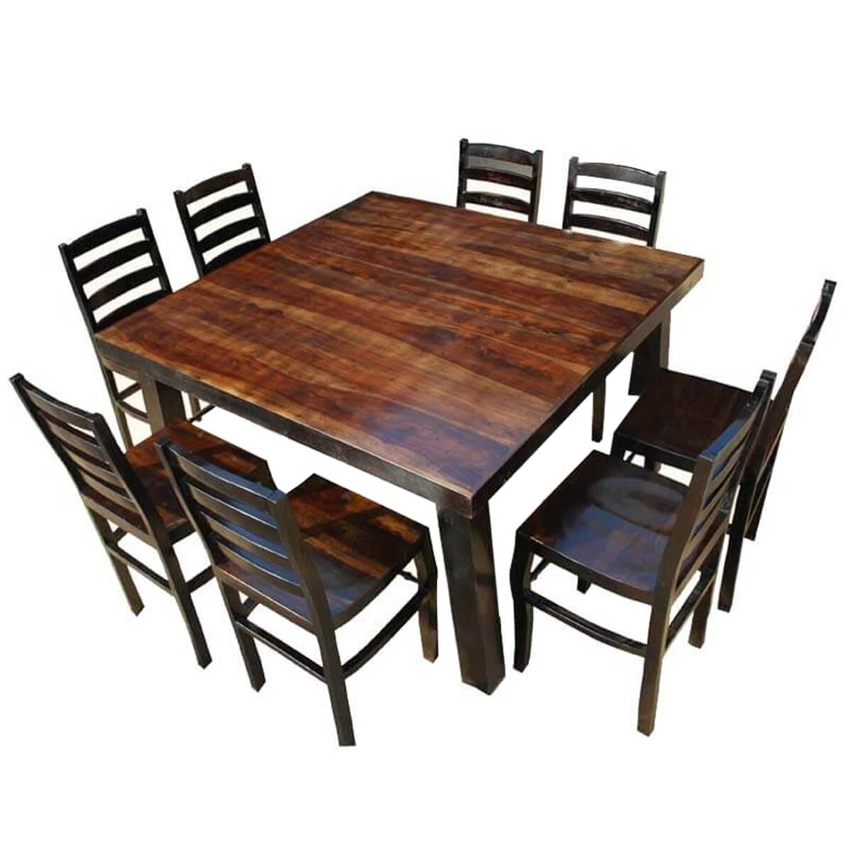 Rustic Counter Height Kansas City Square Dining Set For 8