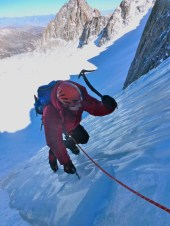 Climbing ice in U-notch Feb 21, 2014