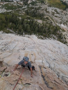 Ney just past the crux