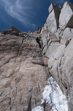 South facing rock at 13,000' on 4/10