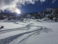 Amazing skiing to the desert.
