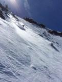 Glen skis the N Face of Dream Mountain