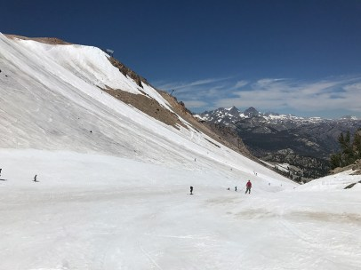 Mammoth Mountain and the Ritter Range on July 23